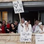 Catholic clergy listen as Pope addresses pilgrims