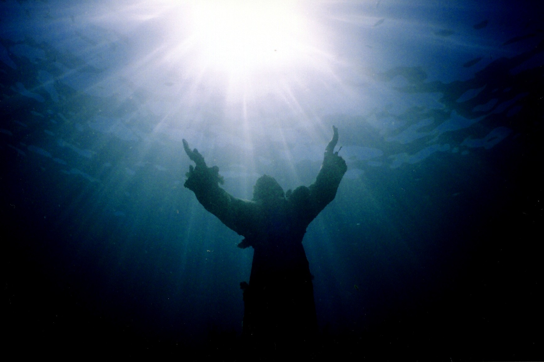 christ of abyss underwater pics