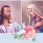 Jesus and Mother  Mary Image blessing