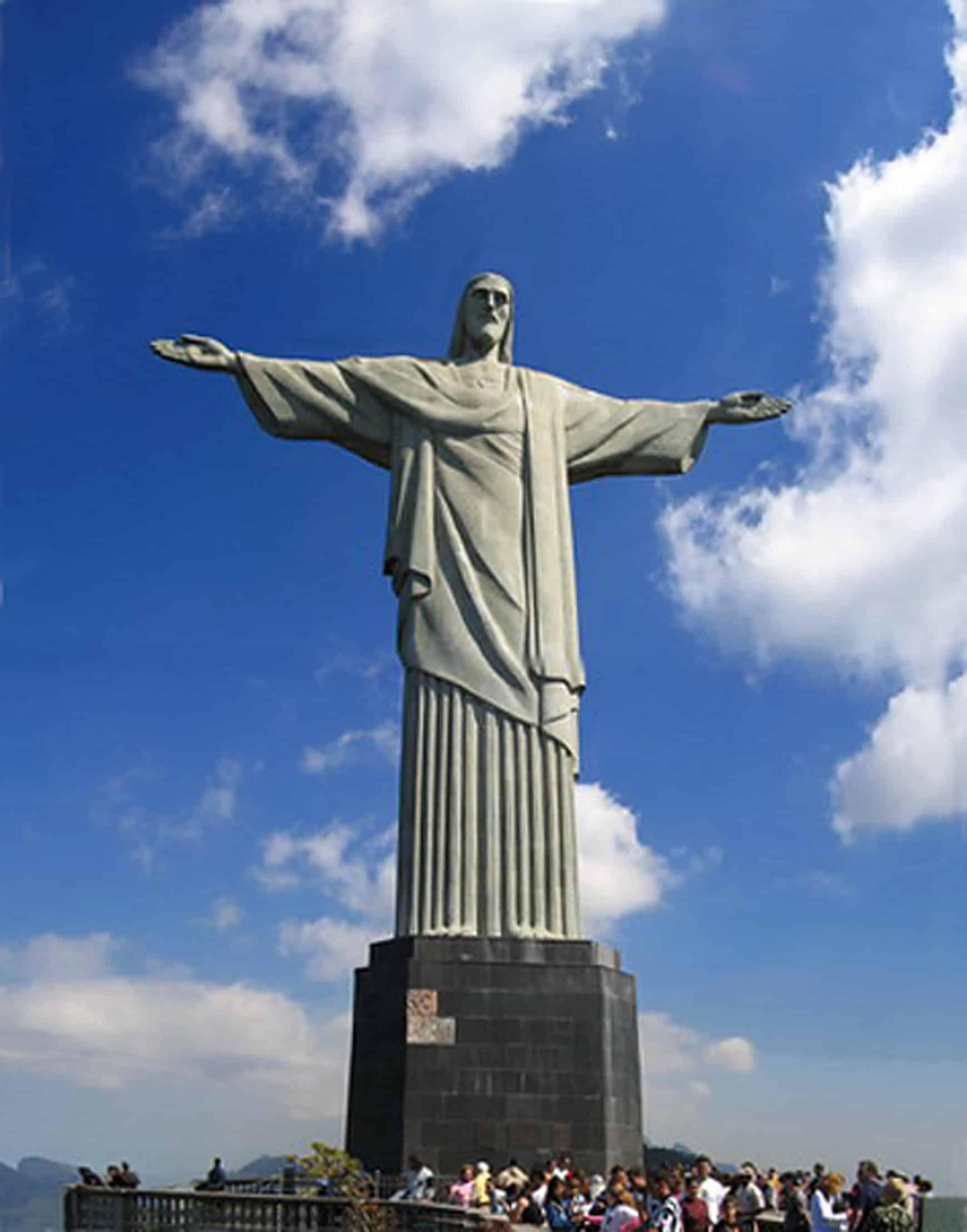 Statue Of Jesus Christ In Rio De Janeiro Brazil
