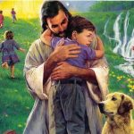 jesus christ hugging a child pic