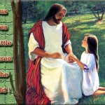 jesus consoling a child