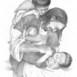 Jesus christ playing with children pic