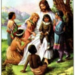 Jesus Christ Pics with children all around him