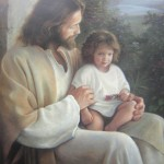 Jesus Christ Pic with a child