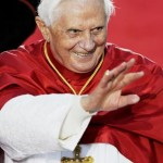 Pope Benedict XVI waves as he leave Bangaroo after  World Youth Day