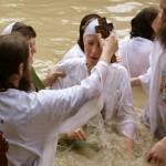 Around 3,000 Orthodox Christian pilgrims took a ritual dip in the Jordan River near the West Bank city of Jericho part of their Easter pilgrimage to the Holy Land.