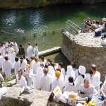 Jordan River pilgrims baptism more pics