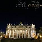 St.Peters Basilica Holy place Night pic
