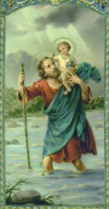 St.Christopher carrying Jesus Christ