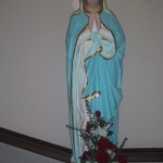 virgin mary pic in church