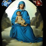 virgin mary pic with jesus in hands