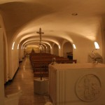 Facing the Confessio and tomb of St. Peter is a crypt chapel