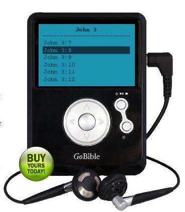 GoBible portable device