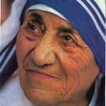 Mother Teresa face closeup