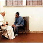 Pope with the man who shot him