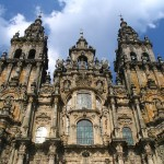 Splendid Baroque facade of Santiago Cathedral