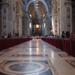 Central nave from the entrance down to the Baldacchino