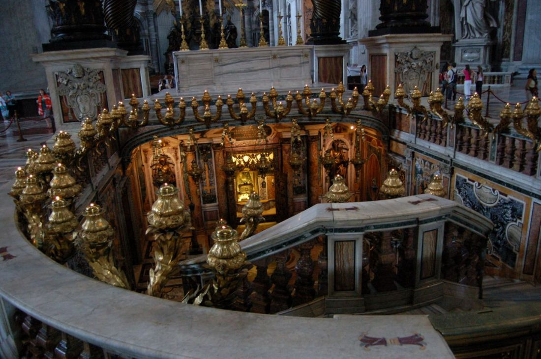 Image result for St. Peter's Basilica sunk Confessio