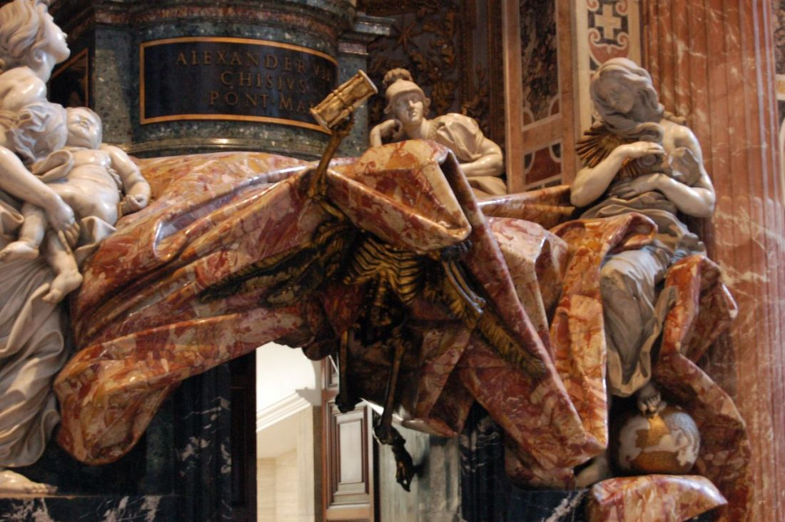 the-monument-to-pope-alexander-chigi-vii-d-1667-by-bernini ...