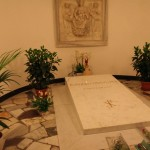 Humble tomb of Pope John Paul II