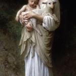 Virgin Mary Lamb and Jesus