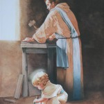 Baby Jesus helping St.Joseph