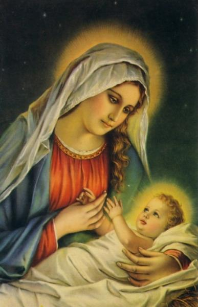 Mary with infant jesus pictures