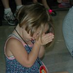 Child Pray In Church