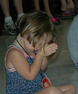 Child Pray In Church