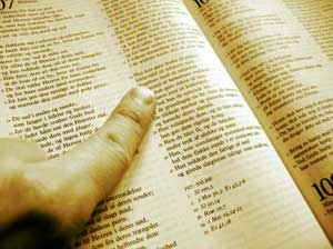 Drop Your Finger on a Word in the Bible