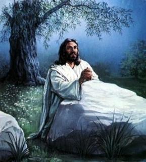 Jesus praying 0011
