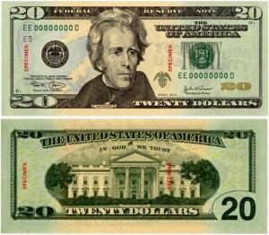 Soiled 20 dollar bill