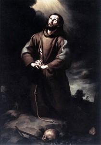 St. Francis of Assisi praying