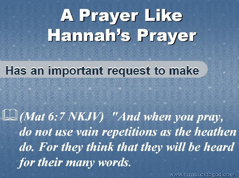 Slideshow : Prayer Like Hannahs Prayer