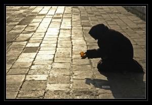 Homeless near Church