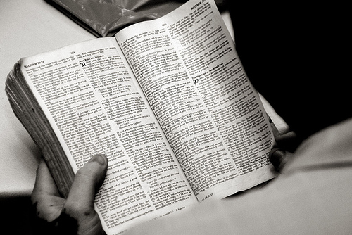 Reading the word of God