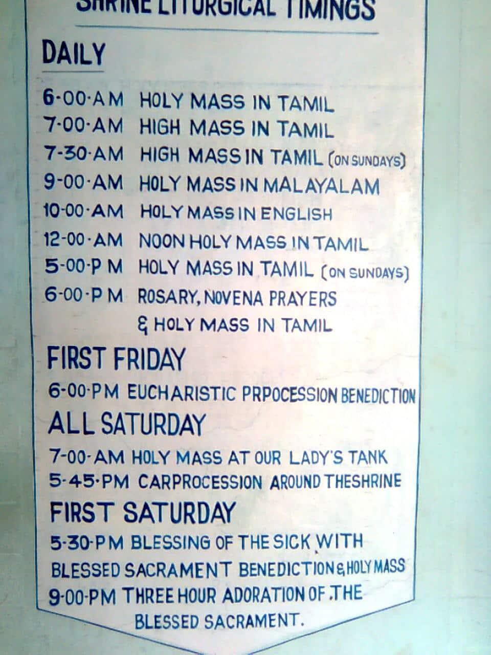 Vailankanni Shrine Tamil Nadu India