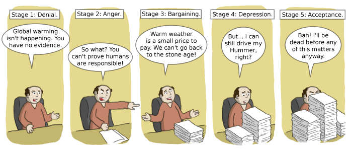 Five Stages of Causing Grief