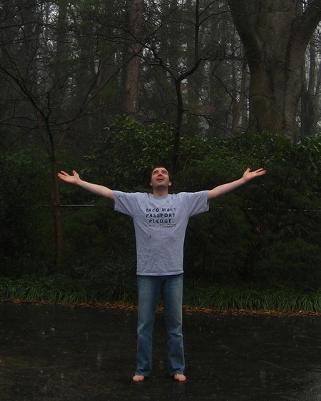 The Pastor\'s son in rain