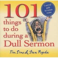 very dull and boring sermon