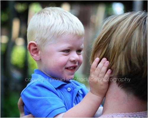 Boy loves his mom