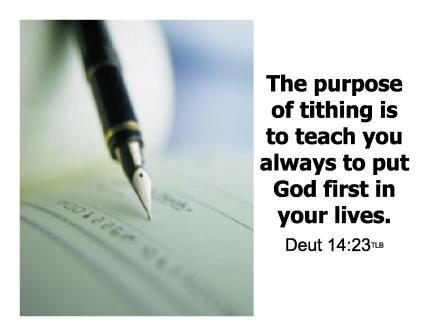 Tithes and offering exhortation stories
