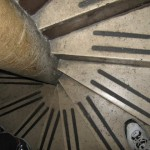 The precarious stairs leading to the dome of St. Peter\