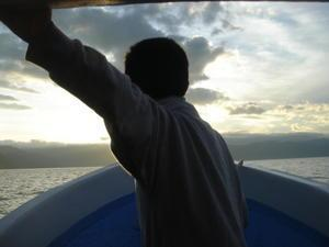 Boy in his boat
