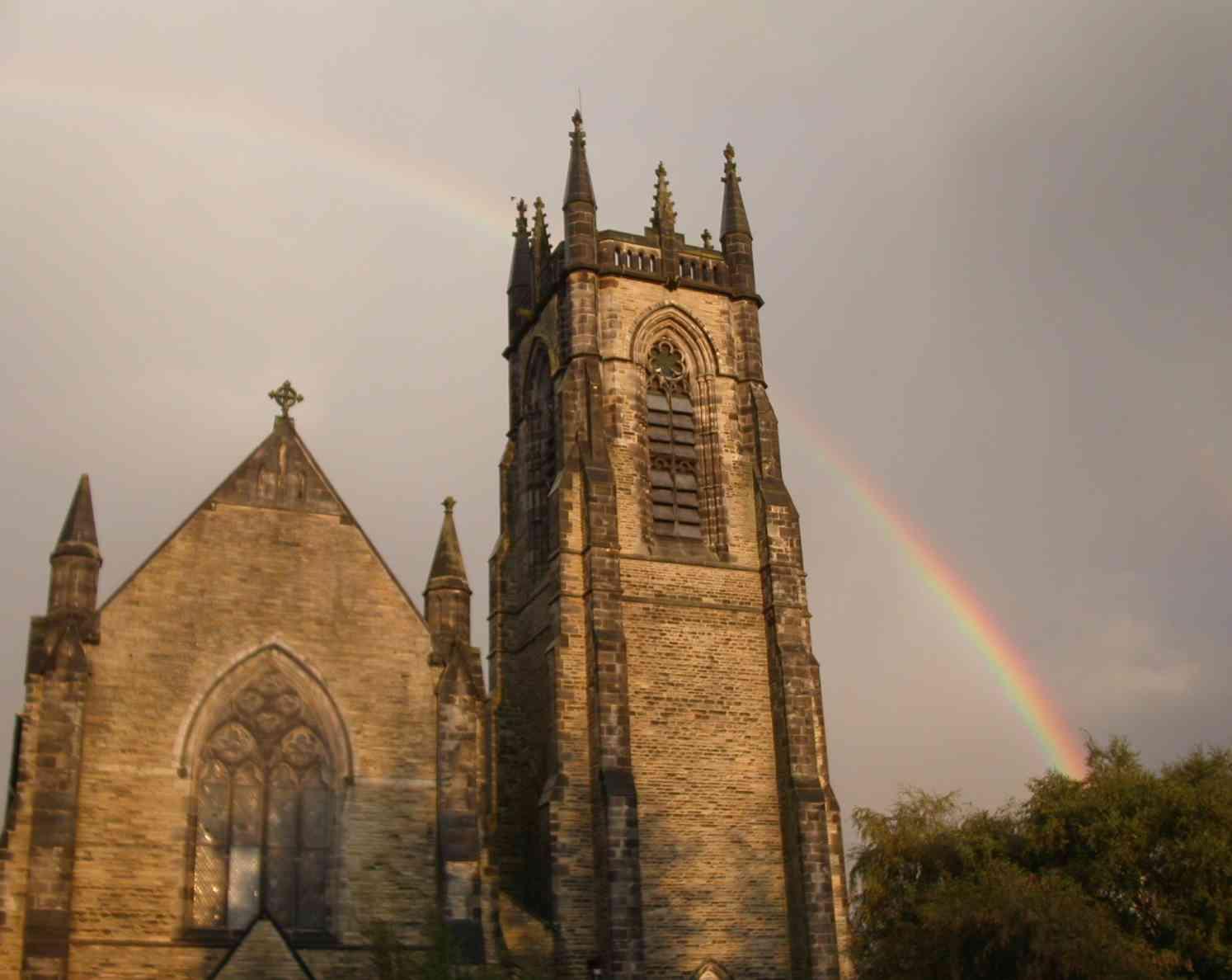 church near rainbow