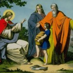 Jesus Christ and the miracle of the loaves and fishes