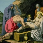 Jesus Christ is laid in the sepulchre tomb