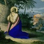 Jesus Christ praying in the garden of Gethsemene