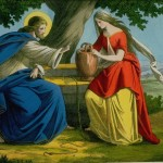 Jesus Christ with the woman of Samaria